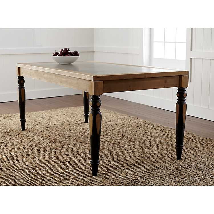 Exceptionnel Two Toned Dining Table With Tin Top ...