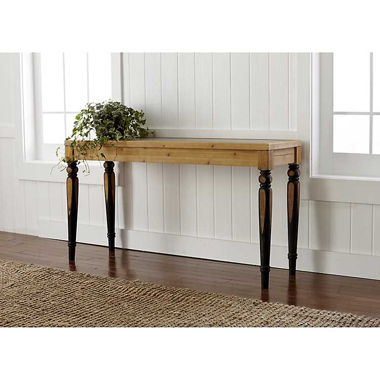 Charmant Two Toned Console Table With Tin Top ...