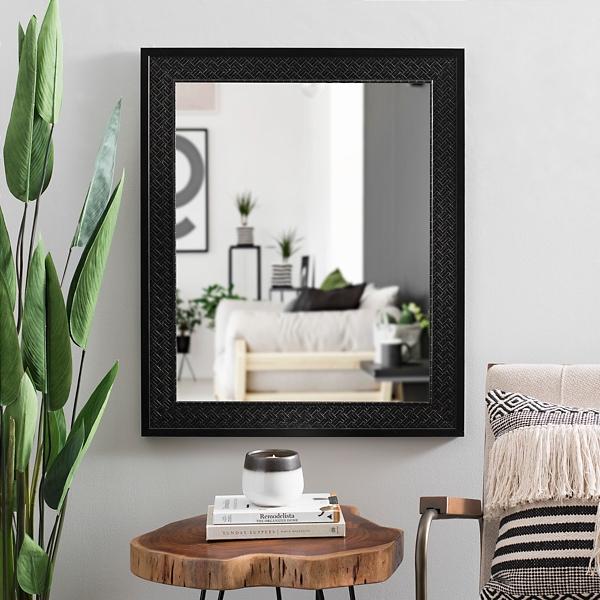 Black Mosaic Framed Wall Mirror