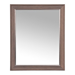 Brown Wall Mirror With Silver Layer 27 3x33 3 In