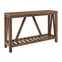 Rustic Oak A Frame Console Table