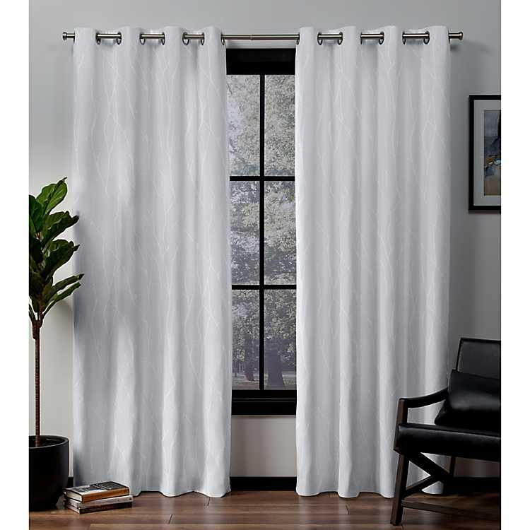 Winter White Blackout Curtain Panel Set 108 In