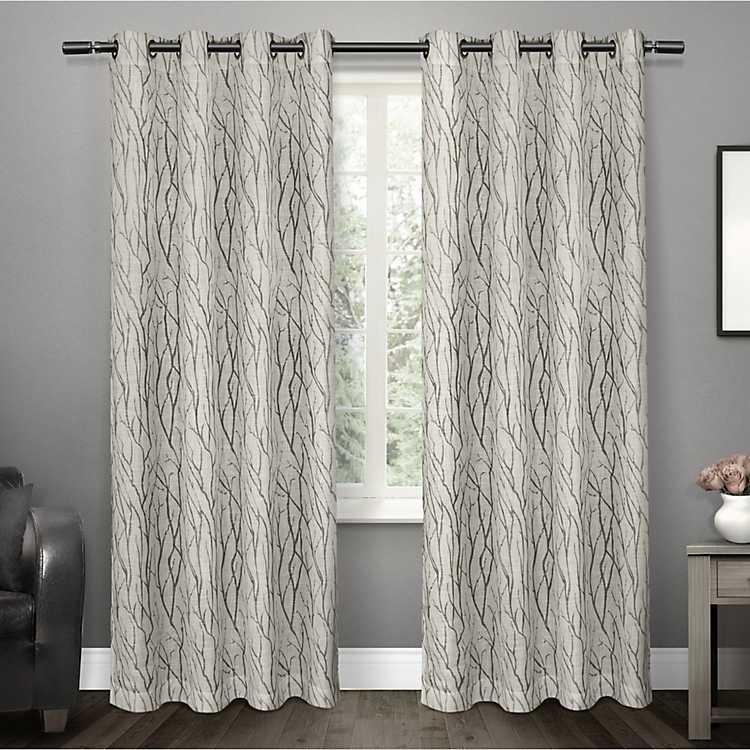 Gray Oakdale Sheer Curtain Panel Set 108 In