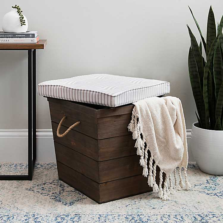 Cool Striped Linen Storage Ottoman Squirreltailoven Fun Painted Chair Ideas Images Squirreltailovenorg