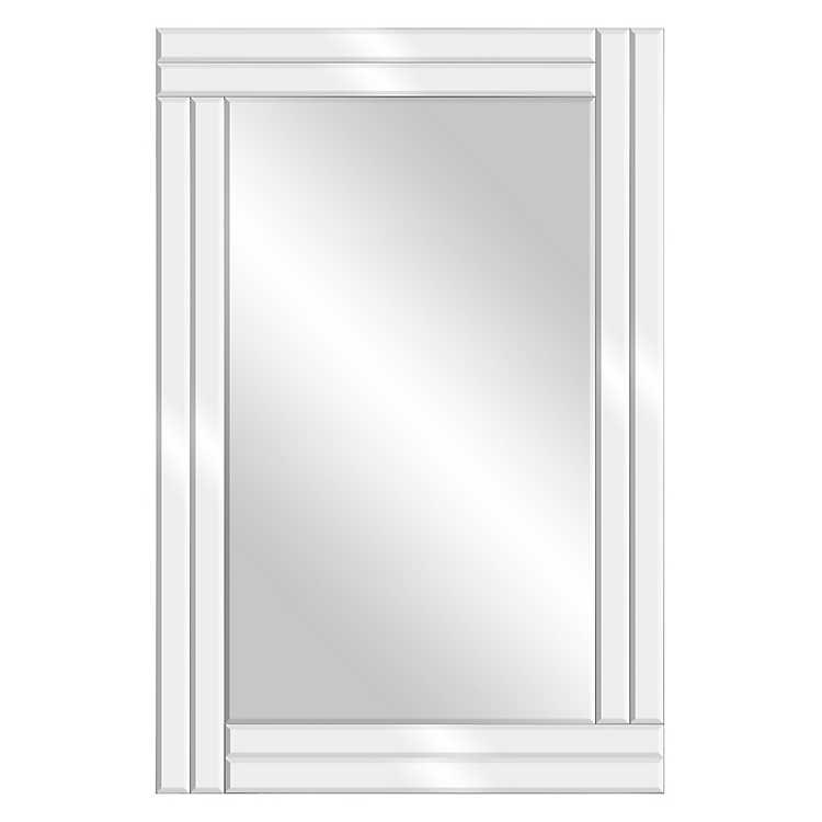 Frameless Stepped Beveled Edge Wall Mirror