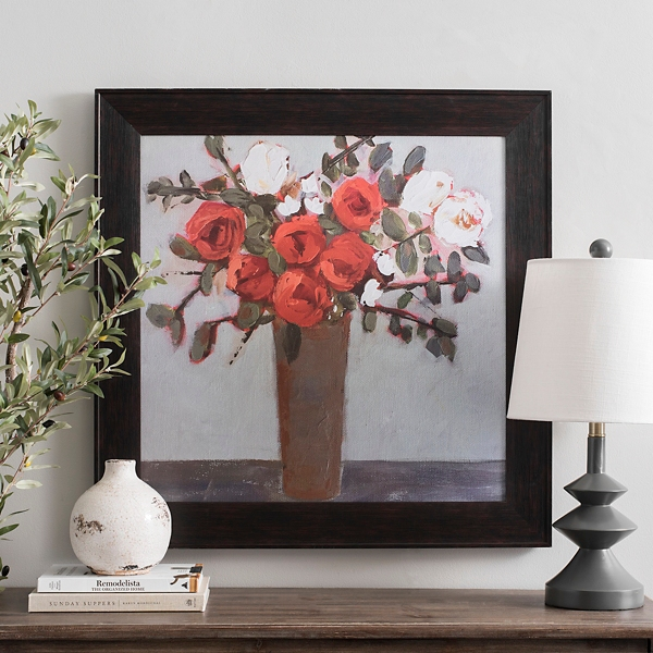 Red Rose Bouquet Framed Art Print