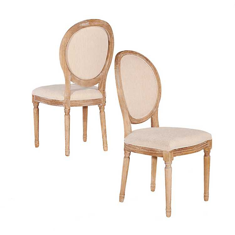 Cool Natural Oval Back Linen Dining Chairs Set Of 2 Ibusinesslaw Wood Chair Design Ideas Ibusinesslaworg