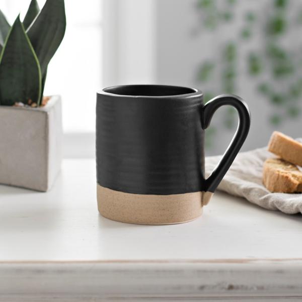 Black and Tan Two-Tone Mug