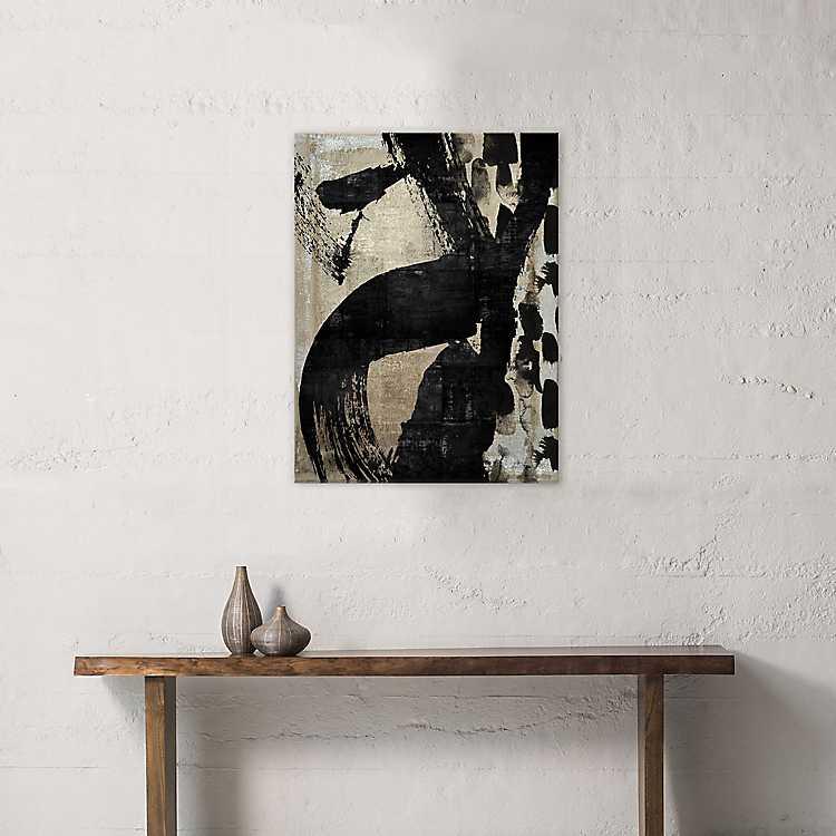 Neutral Metallic Abstract Canvas Art Print