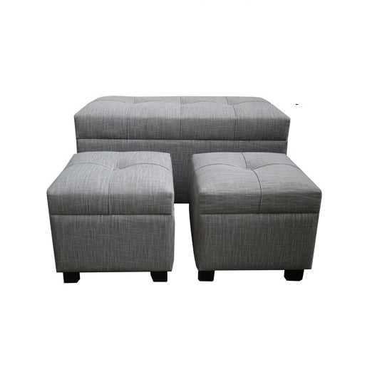 Astonishing Gray Alessia Storage Benches Set Of 3 Kirklands Pabps2019 Chair Design Images Pabps2019Com