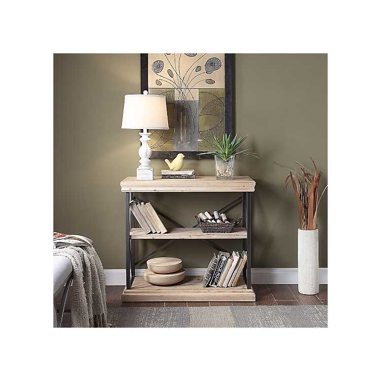 Pierce Wood And Metal 2 Shelf Console Table