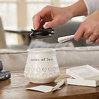 Brown and White Notes of Love Jar