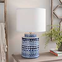 Apres Blue and White Ceramic Table Lamp
