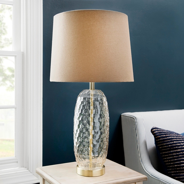 Nora Amber Hammered Glass Table Lamp