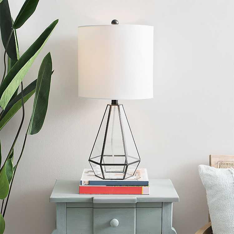 Clear Glass Terrarium Table Lamp Kirklands