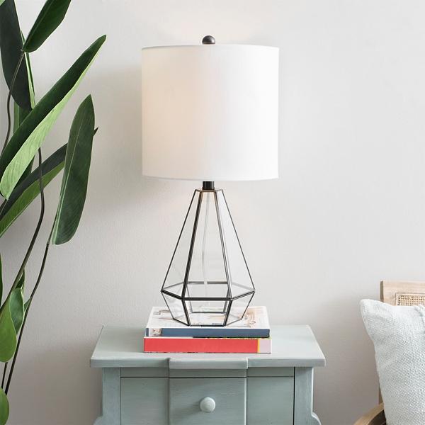 Clear Glass Terrarium Table Lamp