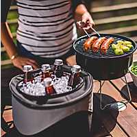 Charcoal Portable Grill with Cooler Tote