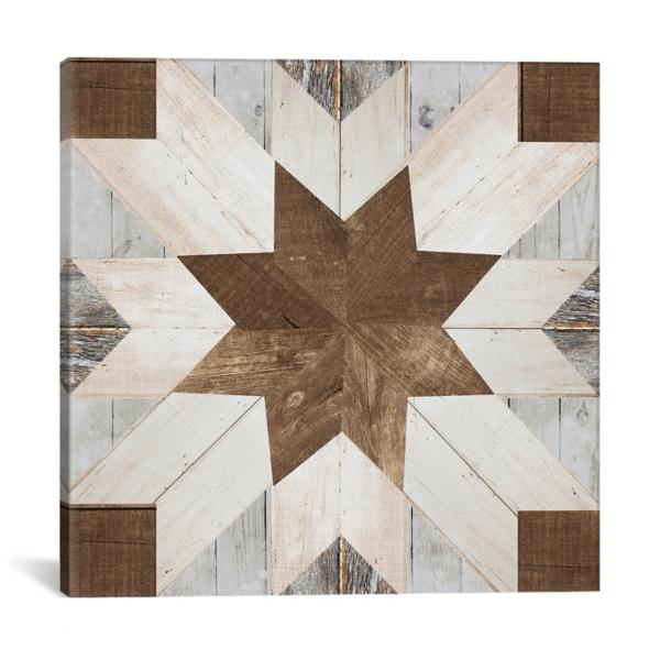 graphic regarding Printable Barn Quilt Patterns named Barn Quilt I Canvas Artwork Print Kirklands