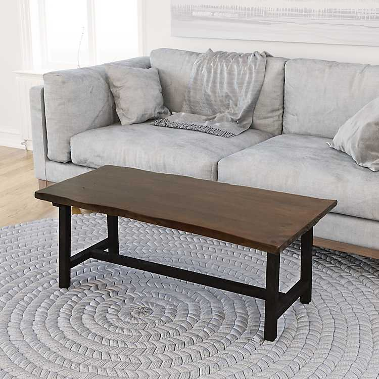 Zara Rustic Natural Faux Live Edge Coffee Table Kirklands
