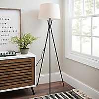 Modern Black Tripod Floor Lamp