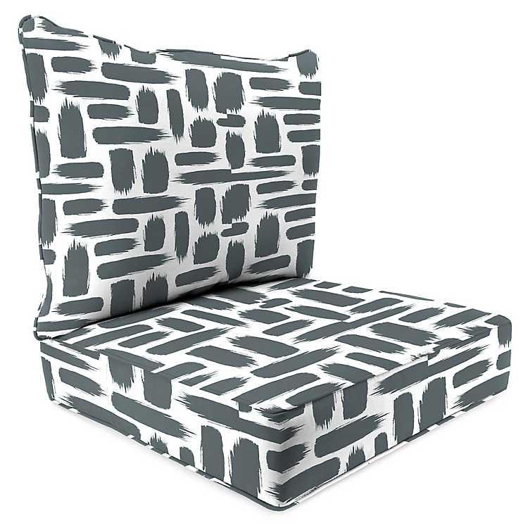 Stone 2 Pc Outdoor Deep Seat Cushion