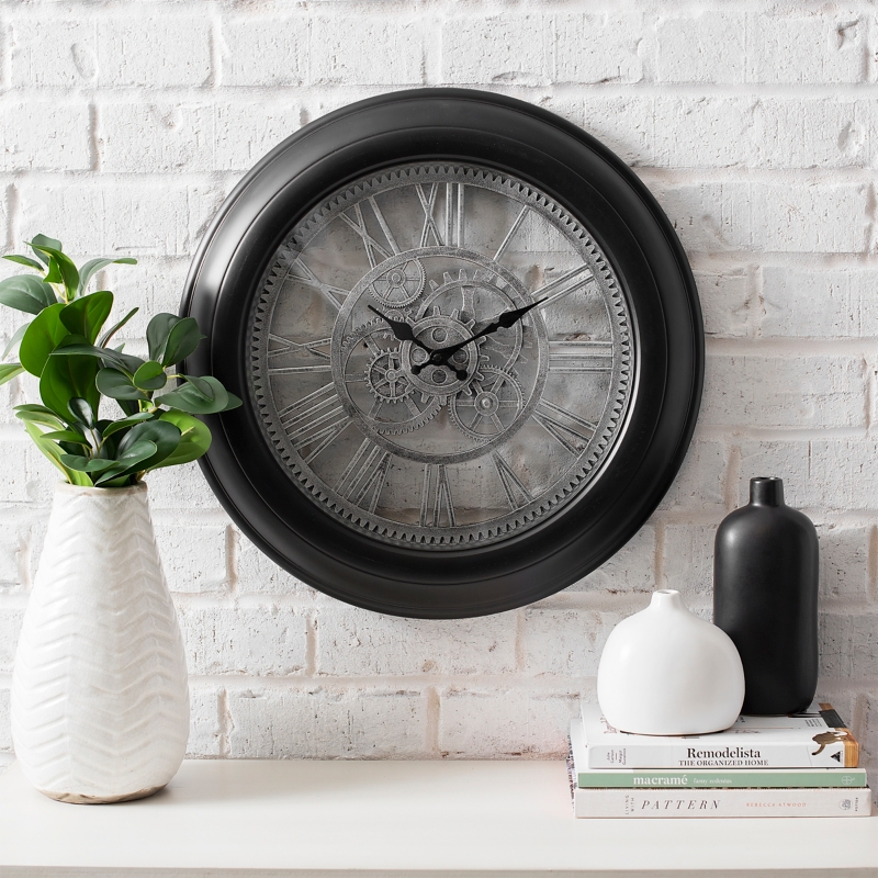Black Gears Wall Clock