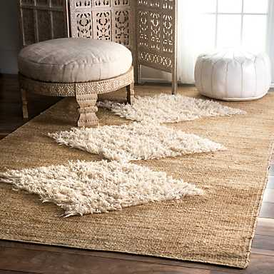 Natural Matilda Diamond Area Rug