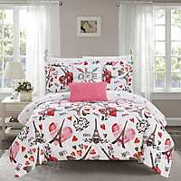 Pink Paris 9-piece  Comforter Set