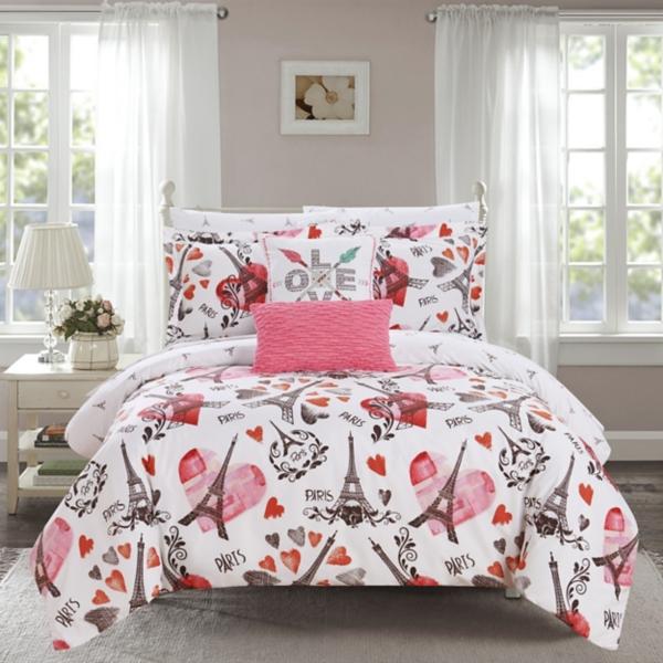 Pink Paris 9-piece  Comforter Set