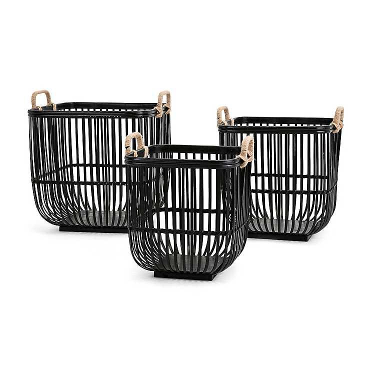 Black Madison Park Lawton Basket Set of 3