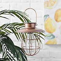 Copper Cage Solar Light