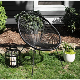Black Pin Hole Outdoor Chair