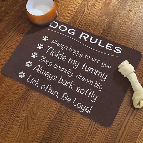 Brown Dog Rules Accent Mat
