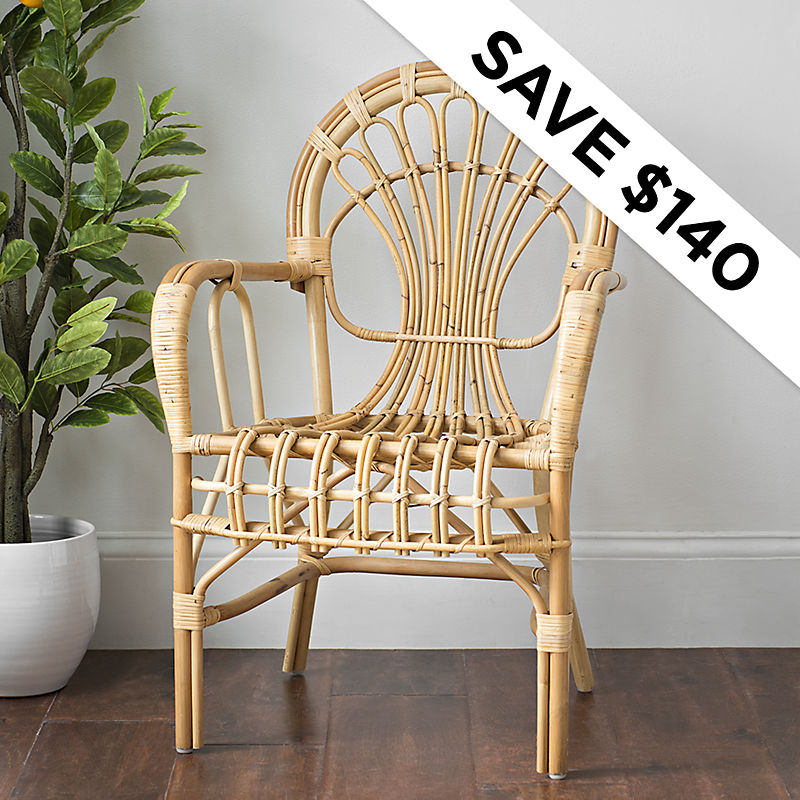 Save $140 - Rattan  Chair - Was $289.99 - Now $149.99