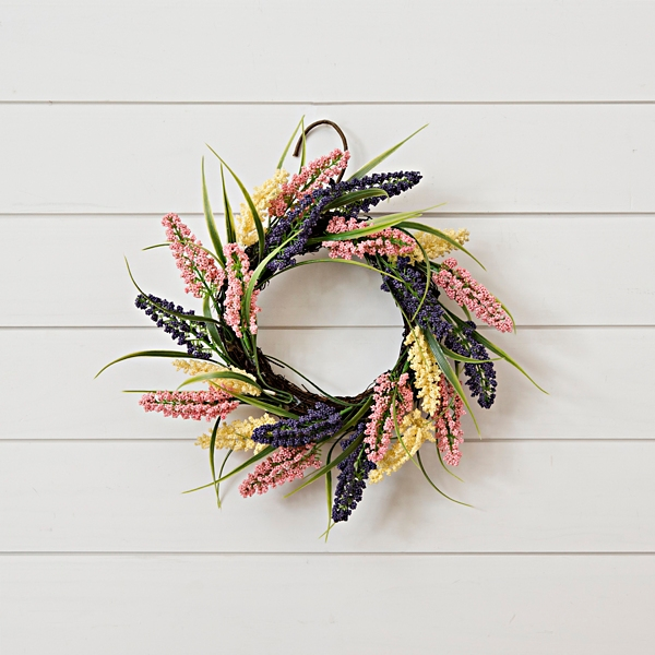 Pink and Purple Spring Astilbe Mini Wreath