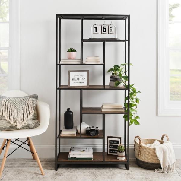 Astounding Wood And Metal Abstract Tier Shelf Kirklands Download Free Architecture Designs Embacsunscenecom