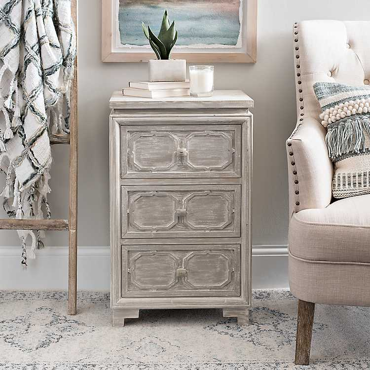 new concept 35a4a 46e5e Carved Wood Bedside Table