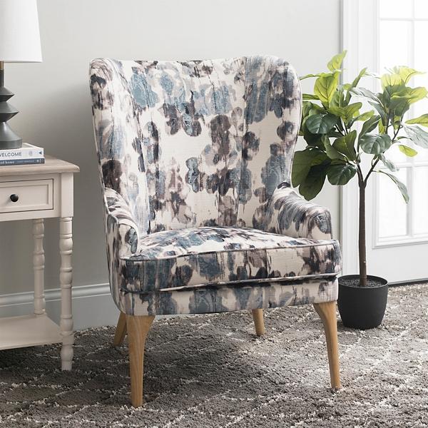 Super Velvet Print Blue Accent Chair Kirklands Ibusinesslaw Wood Chair Design Ideas Ibusinesslaworg