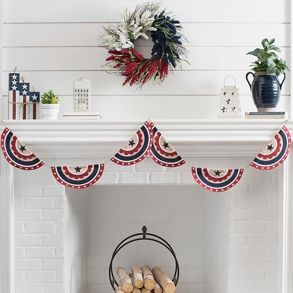 Americana Bunting Banner