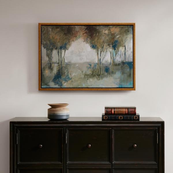 Muted Trees at Dusk Framed Art Print