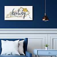 Kentucky State Outline Canvas Art Print