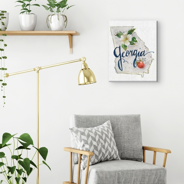 Georgia State Outline Canvas Art Print