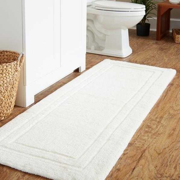 White Large Impress Bath Mat