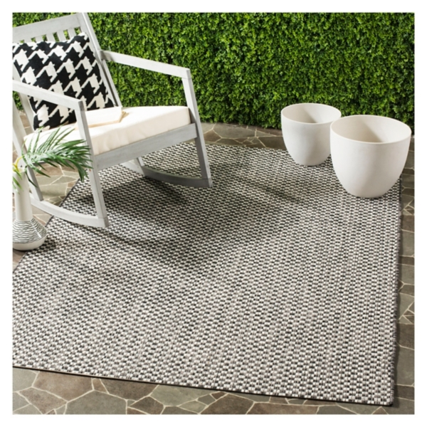 Courcy Woven Transitional Outdoor Area Rug