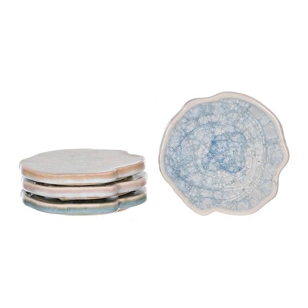 Set of 4 Agate Ceramic Coasters