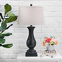 Matte Black Beaded Table Lamp