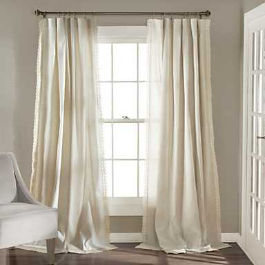 Ivory Rosalie Curtain Set