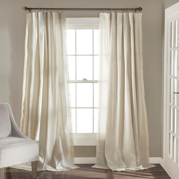 Ivory Rosalie Curtain Set