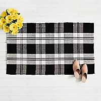 Black and White Buffalo Check Scatter Rug