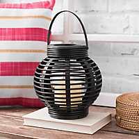 Brown Plastic Rattan Lantern